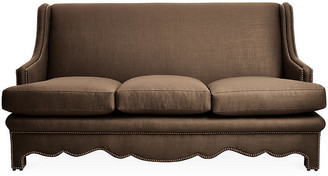 Bunny Williams Home Nailhead Sofa - Brown Linen