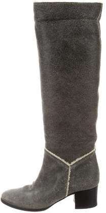 Chanel Knee-High Shearling Boots