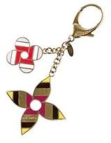 Louis Vuitton Gold-tone Multicolore Enamel Pop Flower Key Charm.
