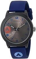 Airwalk Automatic Metal and Silicone Casual Watch, Color:Blue (Model: AWW-5100-NB)