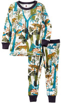 Tea Collection Lazing Leopards PJ Set (Baby Boys)