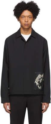Oamc Black System Print Shirt Jacket