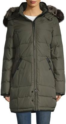 Pajar Faux Fur-Lined & Fox Fur-Trim Down Puffer Jacket