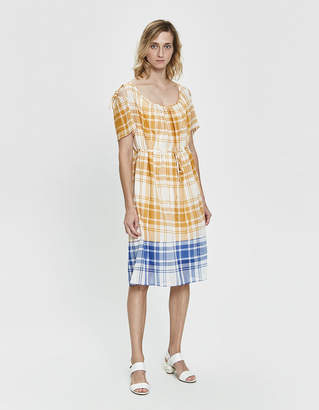 Araks Tierra Two-Tone Plaid Dress