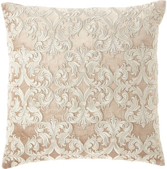 Callisto Home Velvet Embroidered Decorative Pillow