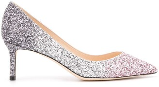 Jimmy Choo Romy 60mm glitter pumps