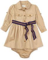 Ralph Lauren Cotton Chino Dress & Bloomer