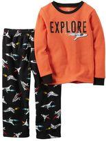 Carter's Baby Boy Thermal Tee & Fleece Pants Pajama Set