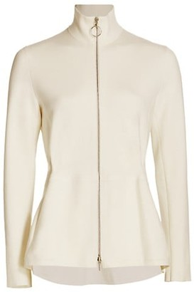 Akris Punto Knit Peplum Zip Jacket