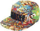 Junior Gaultier Graffiti Print Cotton Baseball Hat
