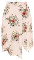 Petite floral wrap skirt