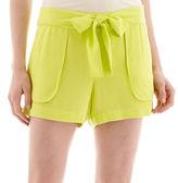 JCPenney A.N.A a.n.a Sash-Tie Soft Shorts