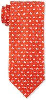 Salvatore Ferragamo Dogs & Butterflies Silk Tie