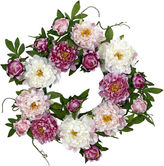 Asstd National Brand Nearly Natural 22 Peony Wreath
