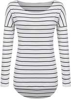 POGT Striped Long Sleeve t-Shirt (L, # Red)