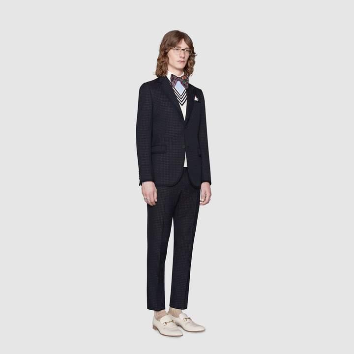 Gucci Monaco empty dots twill suit
