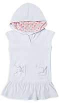 Hula Star Girls' Hooded Terry Cover-Up - Little Kid