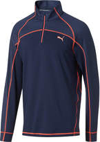 Puma Embossed Quarter-Zip Popover Golf Shirt
