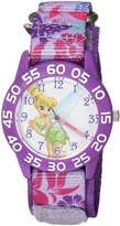 Disney Girl's 'Tinker Bell' Quartz Plastic and Nylon Casual Watch, Color: (Model: WDS000103)