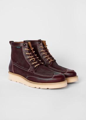 Paul Smith Men's Burgundy Suede 'Tufnel' Boots