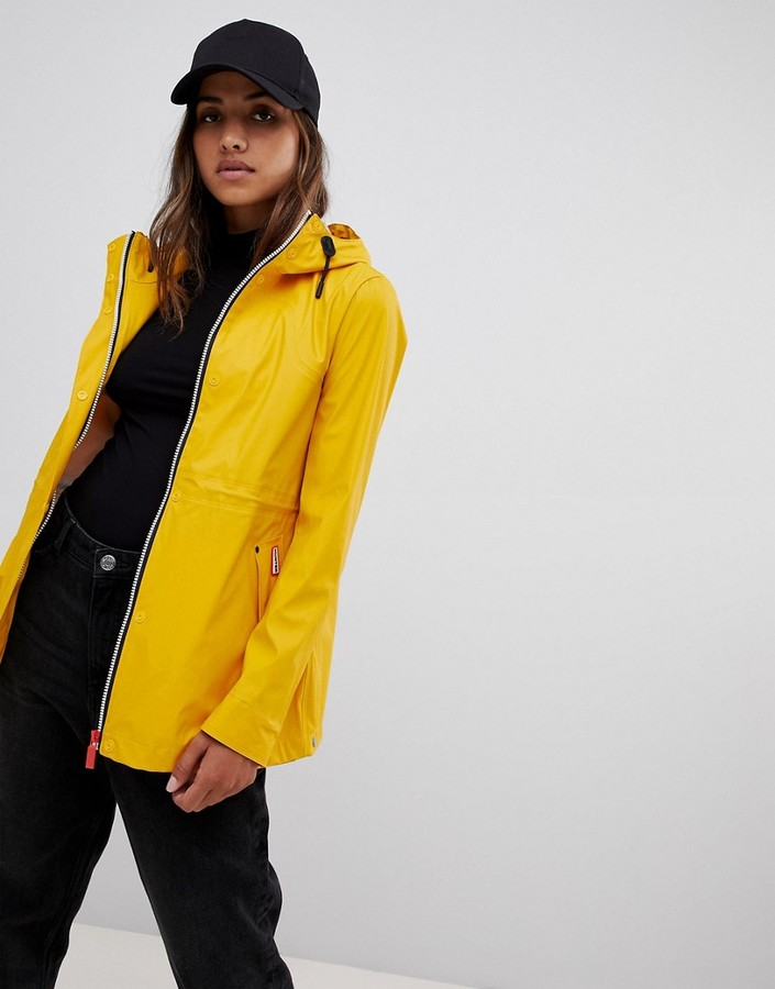 Thumbnail for your product : Hunter lightweight rubberised yellow rain mac