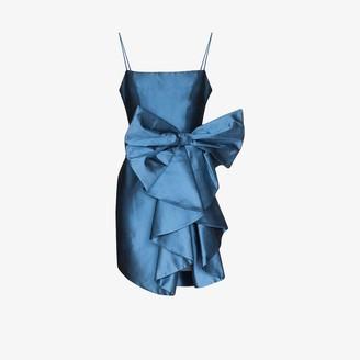 Rasario Bow Satin Mini Dress