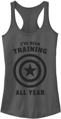Marvel Juniors' Avengers Captain America Training All Year Graphic Tank