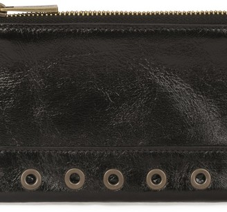 Vanessa Bruno Crinkled leather Flat Pouch