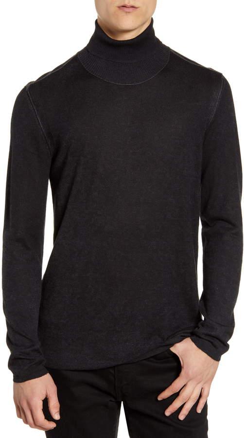 John Varvatos Slim Fit Silk & Cashmere Turtleneck Sweater