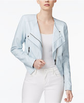 Bar III Asymmetrical Faux-Leather Moto Jacket, Only at Macy's
