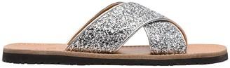 Car Shoe Glitter-Effect Sandals