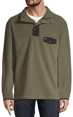 Realtree Mens Mock Neck Long Sleeve Quarter-Zip Pullover