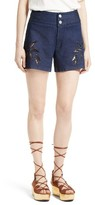 See by Chloe Women's Embroidered Denim Shorts