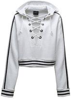 FENTY® PUMA® by Rihanna Lace-Up Hoodie Sweatshirt, Puma White