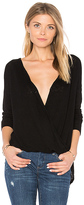 Velvet by Graham & Spencer Chantal Cross Front Top in Black. - size S (also in XS)