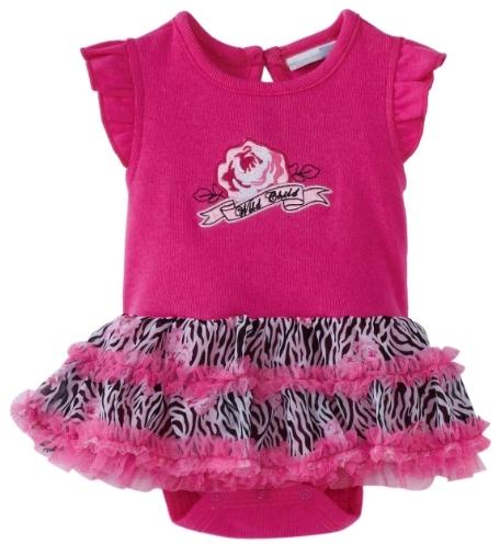 Vitamins Baby Baby-Girls Wild Child Zebra Print Creeper