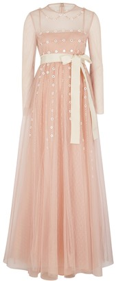 RED Valentino Blush embellished tulle gown