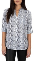 KUT from the Kloth Harper Snake Print Roll Tab Blouse