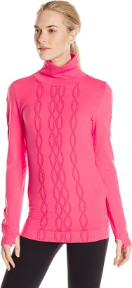 Colosseum Women's Cable Knit Seamless Long Sleeve Top