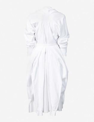 aganovich Ruffled cotton midi dress