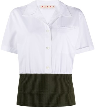 Marni Ribbed Hem Short-Sleeve Shirt