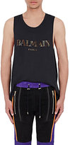 Balmain Men's Logo Tank-BLACK