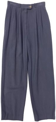 Christian Dior Purple Wool Trousers