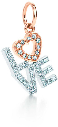 Tiffany & Co. Love charm in 18k white and rose gold with diamonds