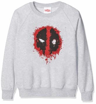 Marvel Girl's Deadpool Splat Face Sweatshirt