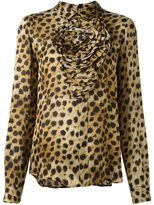 Blumarine animal print longsleeved blouse - women - Silk - 44