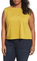 Eileen Fisher Plus Size Women's Organic Linen Jersey Shell