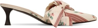 Tabitha Simmons For Brock Collection 50mm Satin Mules W/ Bow