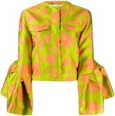 Marques Almeida Marques'almeida floral print fitted jacket