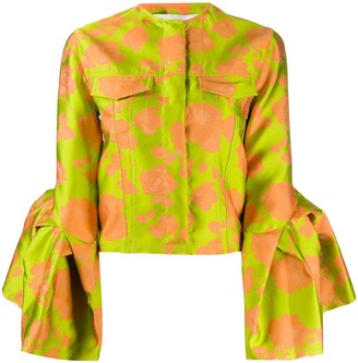 Marques Almeida Floral Print Fitted Jacket